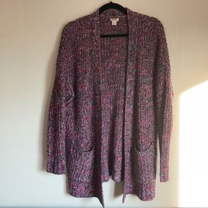 Mossimo knit colorful cardi size S